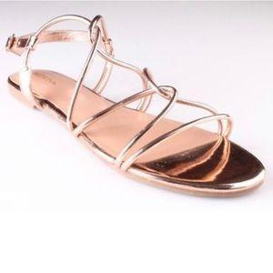 Rose gold sandal 9